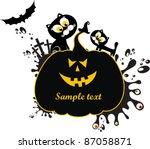halloween card.  pumpkin... | Shutterstock .eps vector #87058871