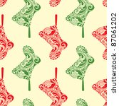 seamless christmas pattern with ... | Shutterstock .eps vector #87061202