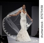 new york   october 16  model...   Shutterstock . vector #87075458
