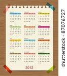 Vector Calendar 2012 For Your...