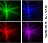laser rays set   colored... | Shutterstock .eps vector #87078515