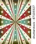 tricolor star grunge background. patriotic vintage poster for your advertising - stock vector