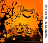 vector cute halloween... | Shutterstock .eps vector #87121123