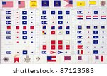 military flags of  north  ... | Shutterstock . vector #87123583