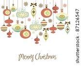 retro christmas balls. | Shutterstock .eps vector #87126547