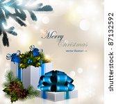 vector christmas composition on ...   Shutterstock .eps vector #87132592