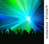 laser show   colored background ... | Shutterstock .eps vector #87132679