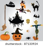 halloween set | Shutterstock .eps vector #87133924