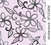 abstract flower seamless...   Shutterstock .eps vector #87152836