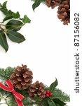 Christmas Decorative Border Of...