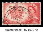 australia   circa 1953  a stamp ...   Shutterstock . vector #87157072