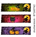 halloween banners | Shutterstock .eps vector #87160762
