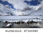 Winter At An Alpine Lake In...