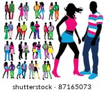 fashion people | Shutterstock .eps vector #87165073