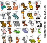 big set of cartoon animals | Shutterstock . vector #87165355