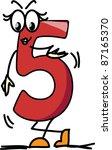 cartoon number five | Shutterstock .eps vector #87165370