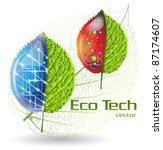 eco tech | Shutterstock .eps vector #87174607