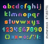 colorful decorative alphabet | Shutterstock .eps vector #87183751