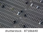 Car Park Seen From Above With...