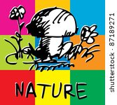 childlike pop art design... | Shutterstock .eps vector #87189271