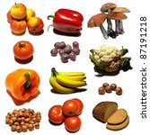 fruits collection mosaic on... | Shutterstock . vector #87191218