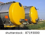 semi truck for fuel and oil... | Shutterstock . vector #87193000