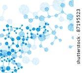 jpg  dna molecule  abstract... | Shutterstock . vector #87195523