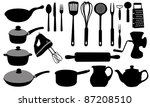 kitchen tools collage | Shutterstock .eps vector #87208510