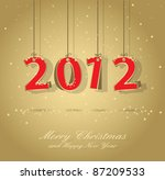 happy new year 2012 gold and... | Shutterstock .eps vector #87209533