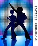 silhouette illustration of...   Shutterstock .eps vector #87211915