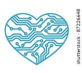 technology love | Shutterstock .eps vector #87226648