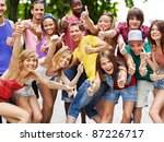 multi ethnic group of people... | Shutterstock . vector #87226717