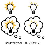 light bulb representing an idea ...