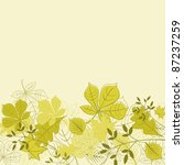 Autumnal leaves on background for seasonal design. Rasterized version also available in gallery - stock vector