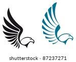 eagle symbols isolated on white ...