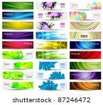 huge banner vector set | Shutterstock .eps vector #87246472