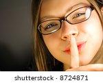 silence beauty girl | Shutterstock . vector #8724871