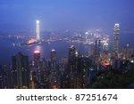 night scene at tsim sha tsui... | Shutterstock . vector #87251674