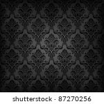 Vector illustration of black seamless wallpaper pattern - stock vector