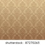 Vector illustration of brown seamless wallpaper pattern - stock vector