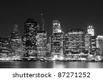 lower manhattan skyline at... | Shutterstock . vector #87271252