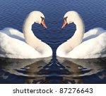 swans. | Shutterstock . vector #87276643