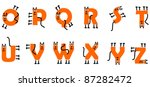 Stock vector cat alphabet q z 87282472