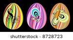 easter eggs   Shutterstock .eps vector #8728723