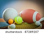 sports equipment. tennis rugby... | Shutterstock . vector #87289207