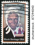 Small photo of UNITED STATES - CIRCA 1986: stamp printed by United States of America, shows Sojourner Truth, abolitionist, circa 1986