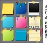 set of paper notes vector | Shutterstock .eps vector #87299146