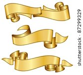 gold ribbon collection | Shutterstock .eps vector #87299329