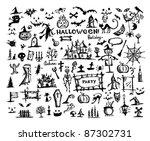 sketch of halloween design... | Shutterstock .eps vector #87302731