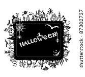 halloween frame for your design | Shutterstock .eps vector #87302737